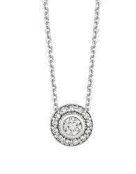 Lord And Taylor Diamond And 14K White Gold Medallion Pendant Necklace