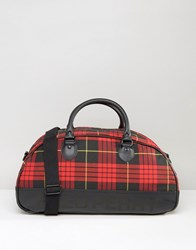 Fred Perry Tartan Holdall Red