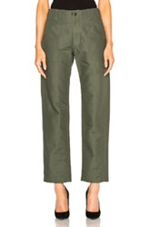 Engineered Garments Double Cloth Fatigue Pants In Green