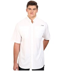 Columbia Tamiami Ii S S Big White Men's Short Sleeve Button Up