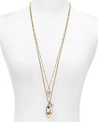 Dylan Gray Mother Of Pearl Pendant Double Strand Necklace 32 Bloomingdale's Exclusive Gold