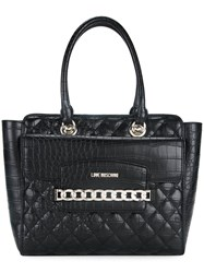 Love Moschino Chain Trim Tote Black
