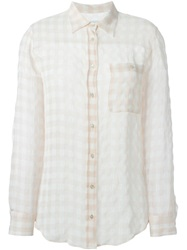 Mauro Grifoni Tonal Check Shirt Pink And Purple