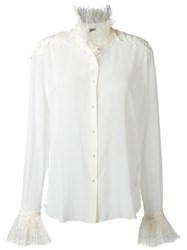Ermanno Scervino Ruffled Detailing Shirt Nude Neutrals