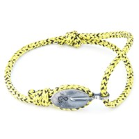 Anchor And Crew London Rope And Silver Bracelet Yellow Noir