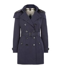 Burberry Reymoore Trench Coat With Quilted Warmer Female Navy