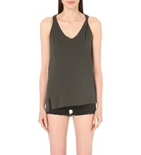 Allsaints Lena Cotton Jersey Top Pirate Black