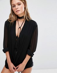 Aldo Rosenlund Wrap Around Choker Black