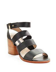 French Connection Ciara Buckle Strap Sandal Heels Black