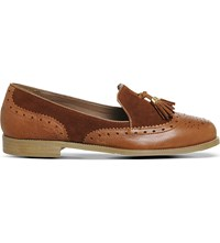Office Ringo Leather And Suede Loafers Tan Leather Suede