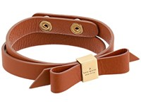 Kate Spade Wrap Things Up Leather Bow Wrap Bracelet Vachetta Bracelet Tan