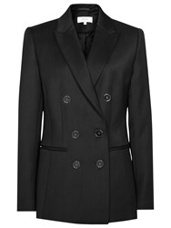 Reiss Tahlia Double Breasted Blazer Black