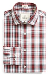 Men's Big And Tall Todd Snyder White Label Trim Fit Plaid Dress Shirt Red