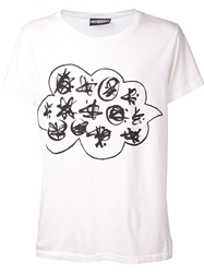 Jeremy Scott Martian Language T Shirt White