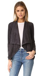 Cupcakes And Cashmere Mackenzie Draped Front Jacket Charcoal