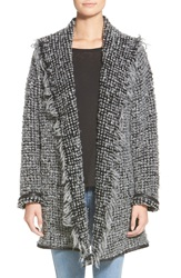 Strom 'Gosi' Shawl Cardigan Black Cream Stitch