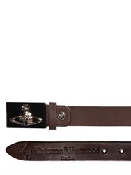 Vivienne Westwood 30Mm Orbit Buckle Smooth Leather Belt