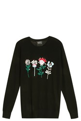 Markus Lupfer Mexican Flower Sweater Black