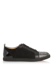 Christian Louboutin Gondola Strass Crystal Embellished Suede Trainers