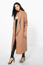 Freya Waterfall Wool Look Duster Camel