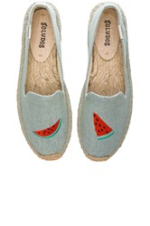 Soludos Watermelon Embroidered Smoking Slipper Baby Blue