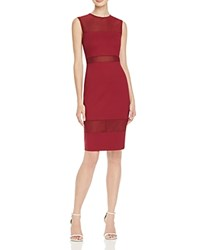 French Connection Mesh Inset Dress 100 Bloomingdale's Exclusive Burgundy