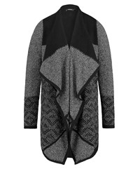 Olsen Waterfall Cardigan Black