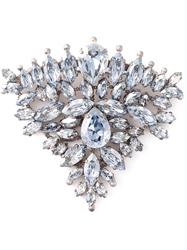 Ermanno Scervino Crystal Triangle Shaped Brooch Metallic