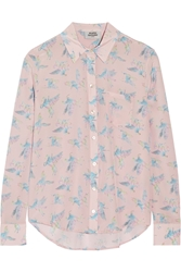 Finds Silken Favours Pretty Pegasus Printed Silk Crepe Shirt
