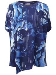 Pure Collection Arianna Silk Poncho Blue