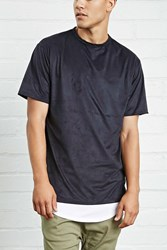Forever 21 Thread Workshop Faux Suede Tee