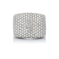 Pave Rectangular Ring