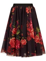 Ted Baker Ondra Juxtapose Rose Tutu Midi Skirt Oxblood