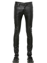 Saint Laurent 15Cm Skinny Faux Leather Jeans Black