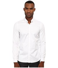 The Kooples Fitted Smart Twill Button Up White Men's Clothing