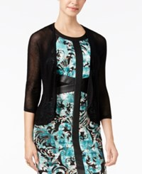 Thalia Sodi Pointelle Shrug Cardigan Only At Macy's Deep Black