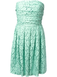 Moschino Cheap And Chic Lace Strapless Dress Green