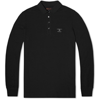 Barbour Heritage Long Sleeve Standard Polo Black