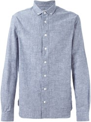 Ymc Buttoned Down Collar Shirt Blue