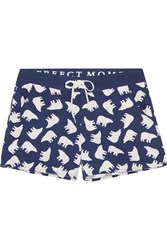 Perfect Moment Printed Stretch Shell Boardshorts Midnight Blue