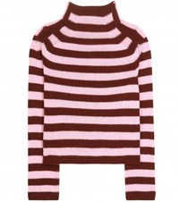 Marni Turtleneck Cashmere Sweater Red