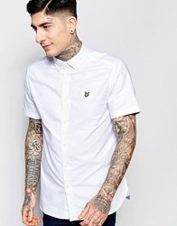 Lyle And Scott Oxford Shirt With Short Sleeves In White White