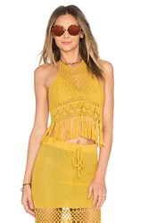 Minkpink Adore You Top Yellow