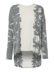 Label Lab Tie Dye Long Sleeve Top Grey