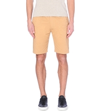 Folk Drawstring Cotton Shorts Mud Brown
