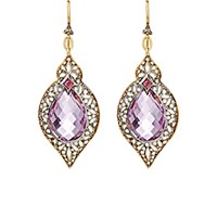Cathy Waterman Women's Arabesque Drop Earrings Pink Gold No Color Pink Gold No Color