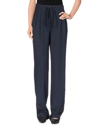 Armani Collezioni Trousers Casual Trousers Women Dark Blue