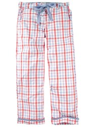 Fat Face Hope Cove Gingham Pyjama Trousers Coral