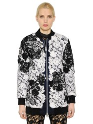 Self Portrait Two Tone Lace Bomber Jacket