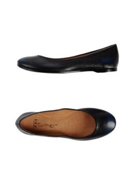 Eva Turner Ballet Flats Dark Blue